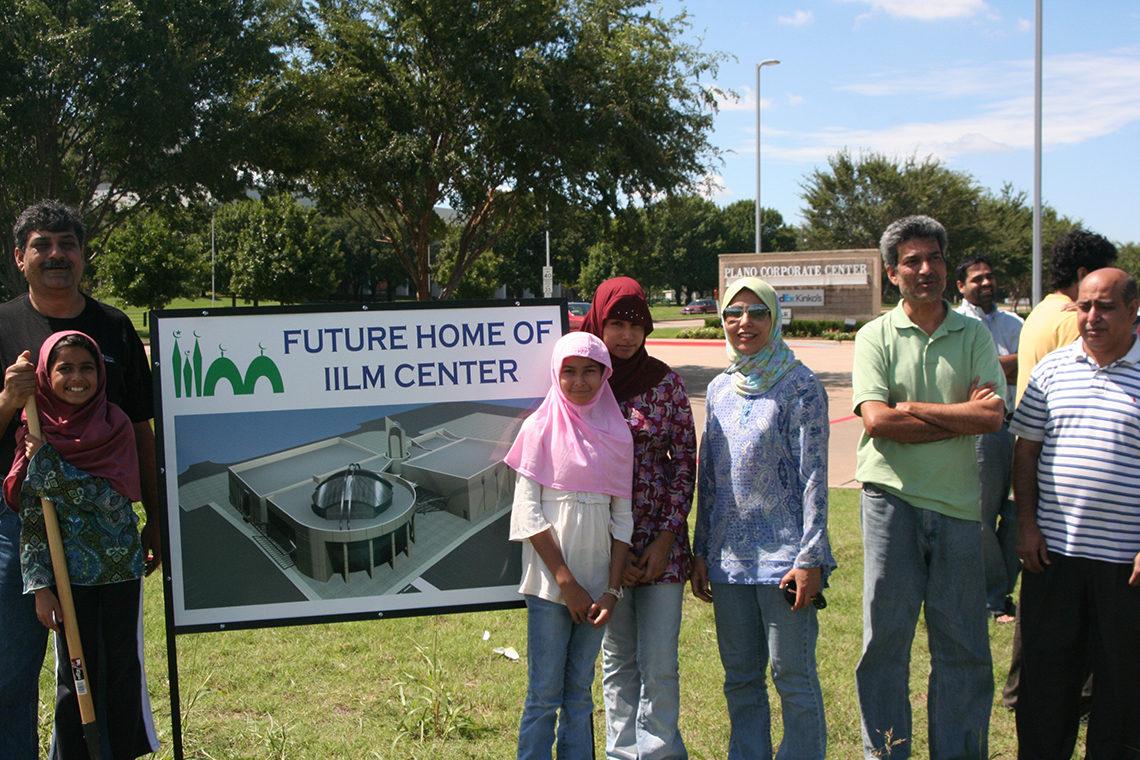 IILM Sponsors standing in front of construction sign 2
